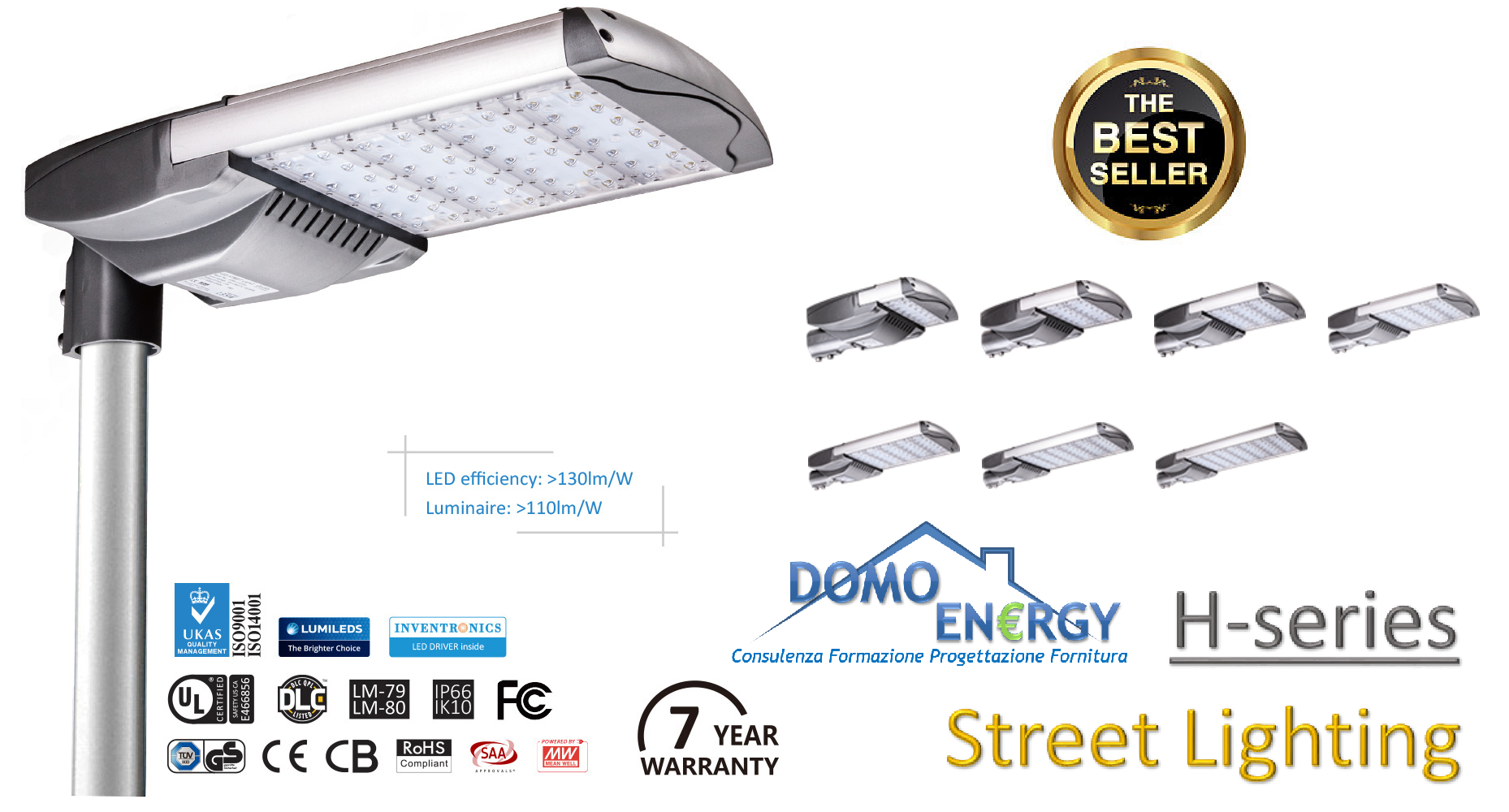 Led street lights with philips chips high efficacy no maintenance